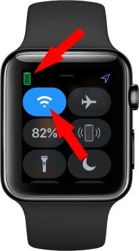 Apple watch must be connected with iPhone and WiFi turn on