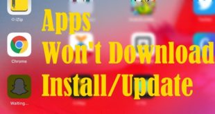 Apps Won't Download install and Update on iPhone and iPad