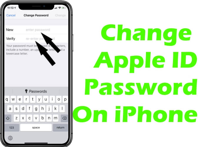 Change Apple ID password on iPhone and iPad