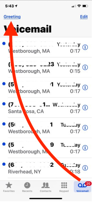 Change Voicemail Greetings Message on iPhone