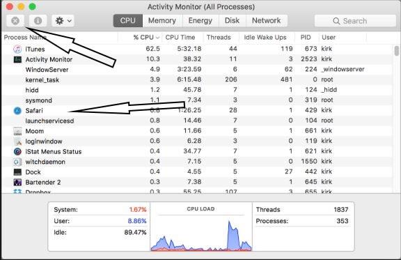 End Process on Mac