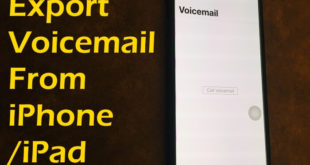 Export Voicemails from iPhone and iPad for Offline