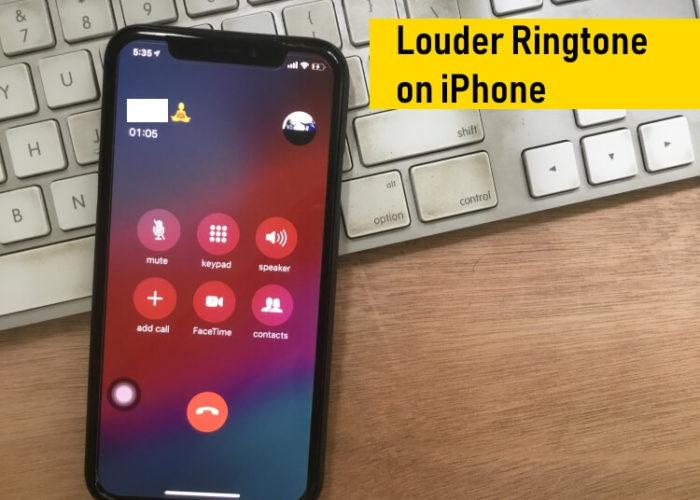 Make iPhone Ring Louder