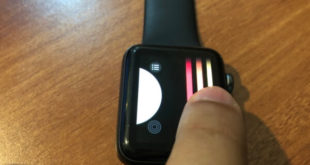 Swipe using finger on apple watch face