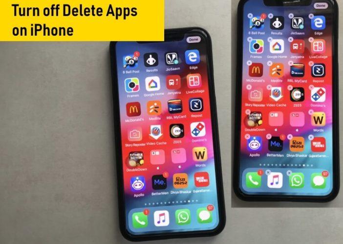 Turn off Delete App on iPhone