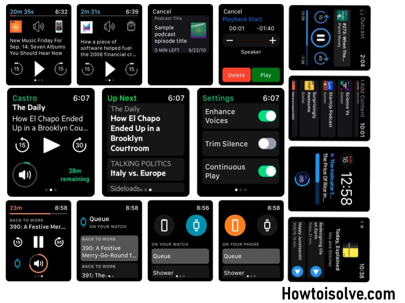 Best Podcast App to Listen Music on Apple Watch