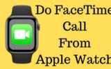 Do FaceTime Call From Apple Watch