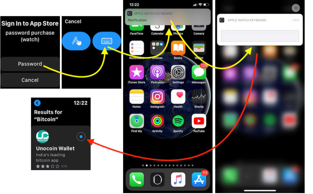 Download new app on Apple watch from App Store