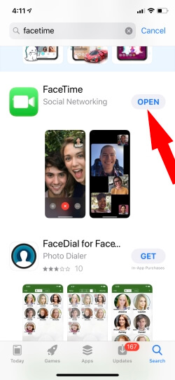 FaceTime Download on iPhone