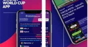 ICC Cricket Wordlcup on Official app