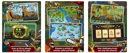 Lumberwhack Defend the Wild tower game for iPhone and iPad