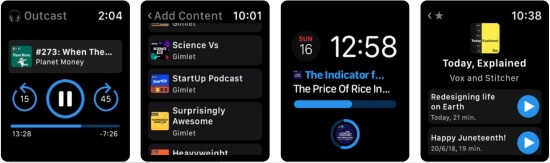 Outcast Apple Watch Podcast app