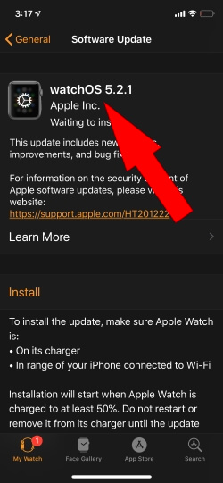 Update Apple Watch to Latest Apple Watch WatchOS