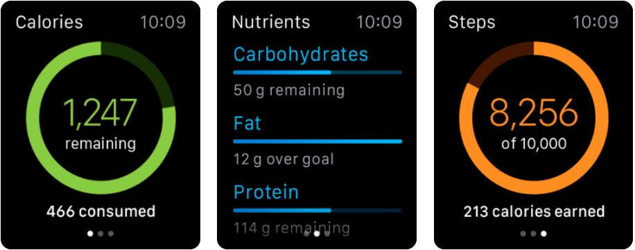 myfitnesspal calorie counter app for apple watch