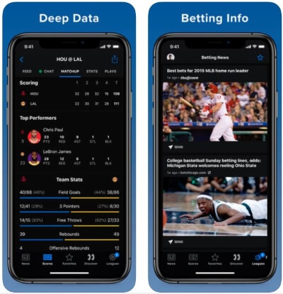thescore Cricket app to watch live Streaming on iPhone and iPad