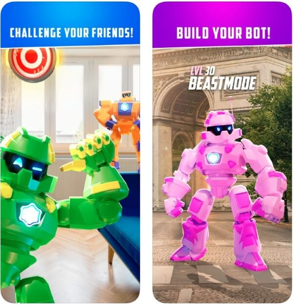 AR Robot Build bot and fight