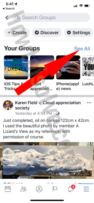 Leave Facebook Group on iPhone