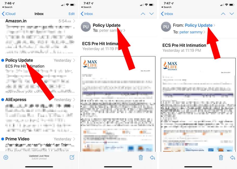 Блокировать спам-почту на iPhone и iPad в iOS 13 или новее