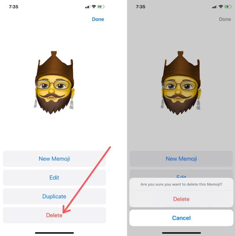 Delete Custom Memoji Stickers from iPhone Keyboard finally
