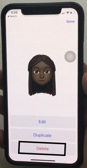 Delete Custom Memoji on iPhone Apple Keyboard