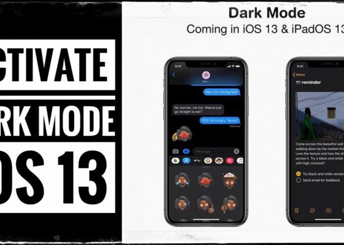 Enable Dark Mode iOS 13 iPhone and iPad
