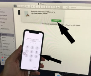 Enter Passcode to Validate and Start install iOS