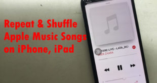 Repeat Apple Music Songs on iPhone iPad