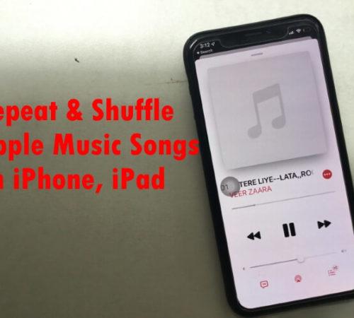 Repeat Apple Music Songs on iPhone iPad