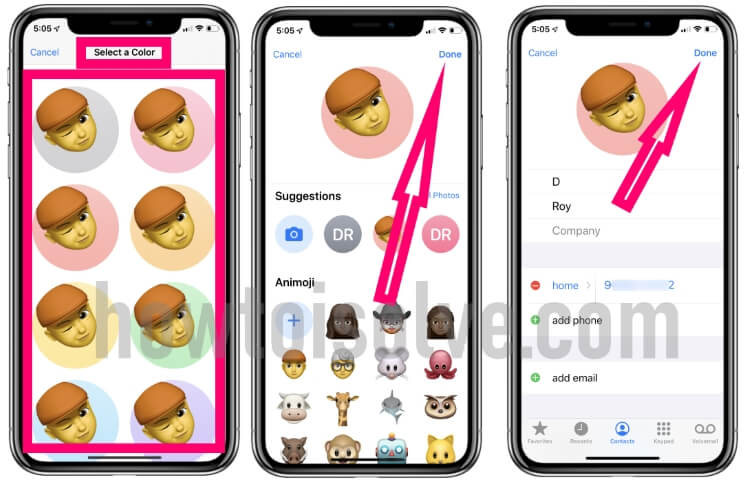 Set Custom Memoji on iPhone XR iPhone XS max iPhone XS iPhoen X