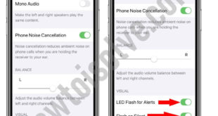Turn off or Turn on Led Flash for alerts on iPhone and iPad in iOS 13