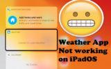 Weather app not working on iPadOS