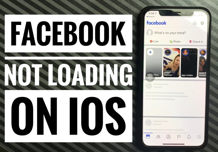facebook won't load iPhone