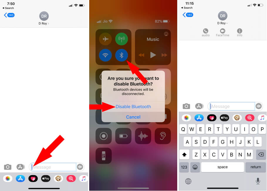 iPhone Keyboard not Showing on Screen after paired with Bluetooth Keyboard