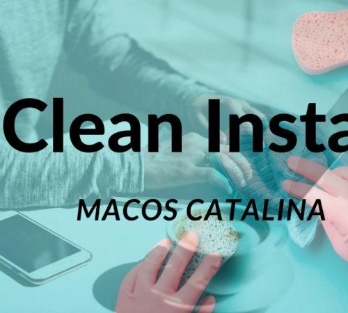 Clean Install MacOS catalina on Mac