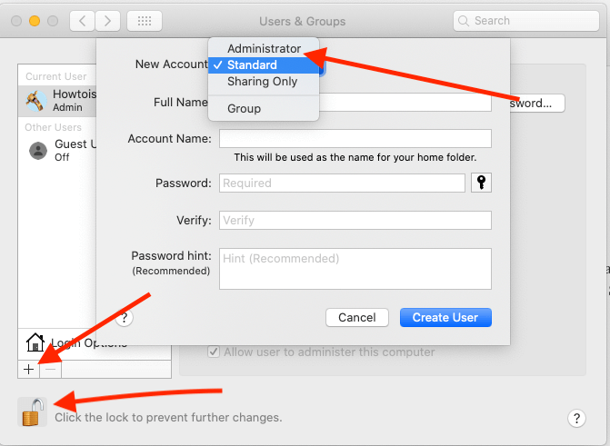 Create a New Admin on Mac