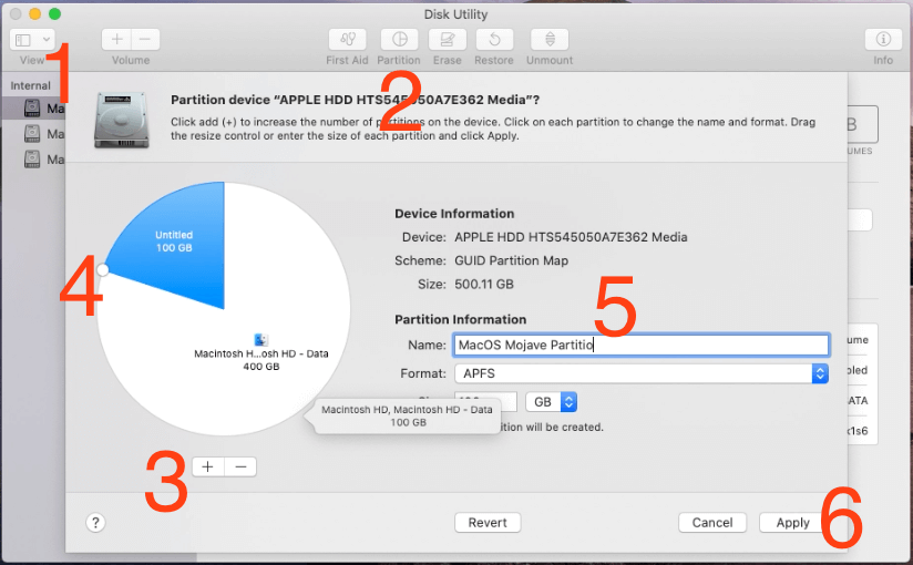 Create a New Partition on Mac