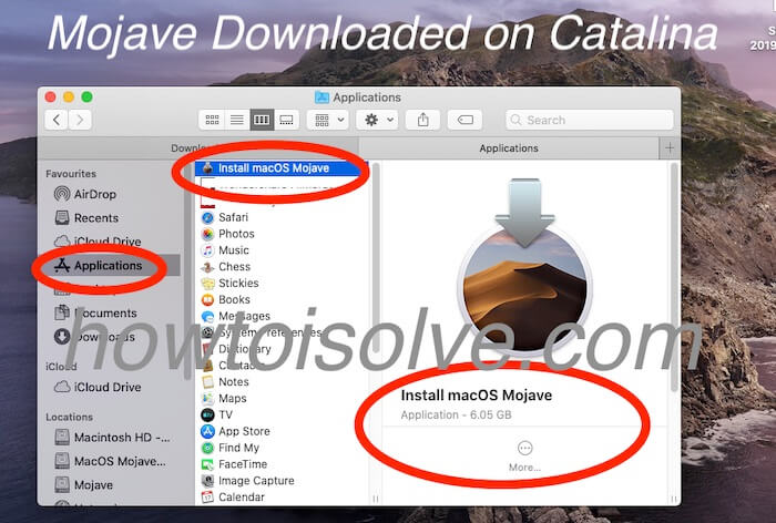 Download install MacOS Mojave app file on Finder for Downgrade