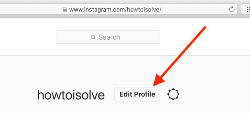 Edit Instagram profile or Email on Mac