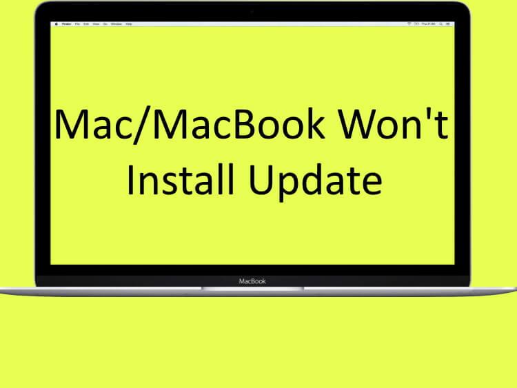 Mac Won't Install Update