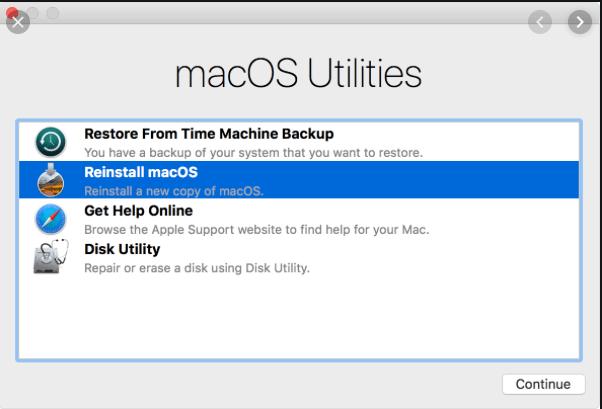 MacOS Utility for reinstall MacOS