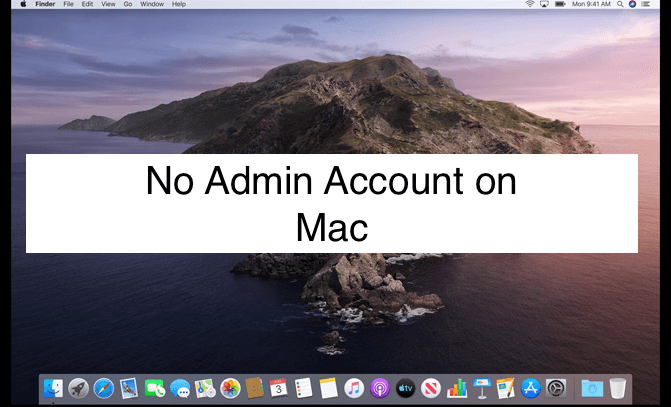 No Admin account on Mac