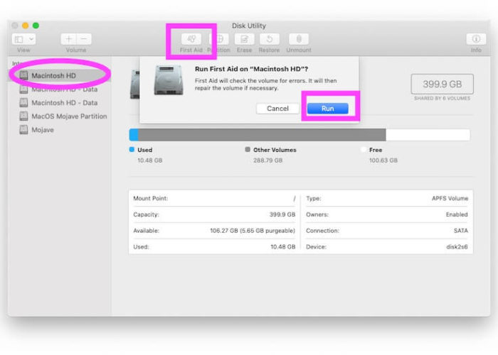 Repair Volume on Mac