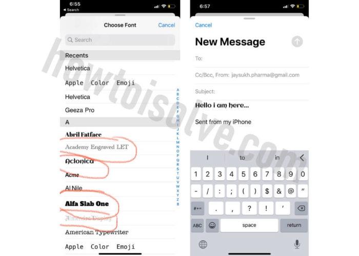 Use Custom Fonts on iPhone