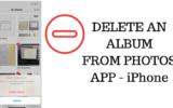 Delete Photo Album from Photo App on iPhone