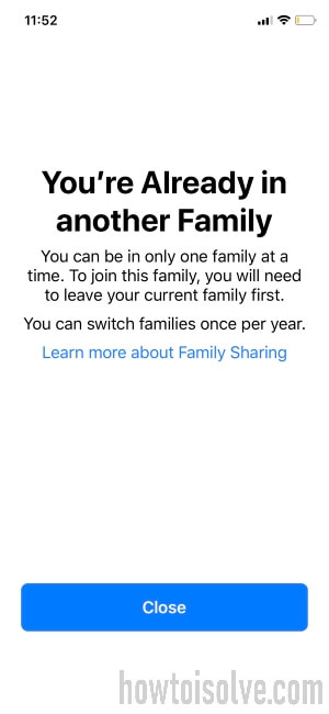 Set up Family Sharing on iPhone
