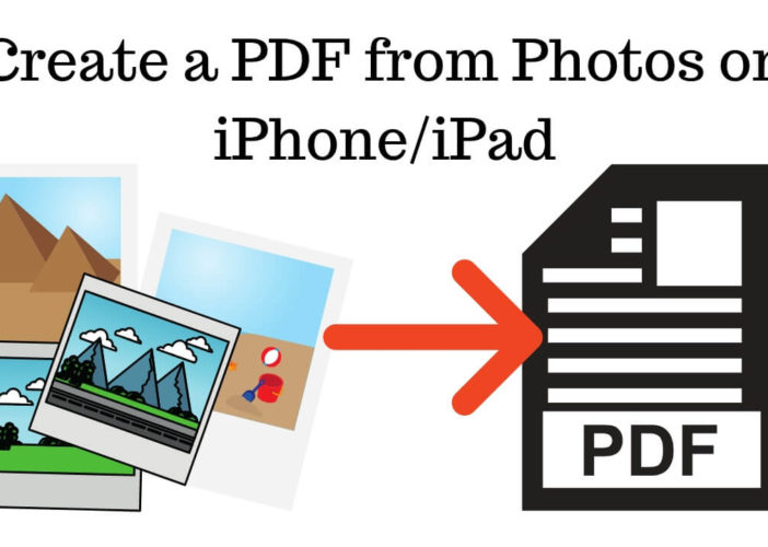 Create a PDF from Photos on iPhone_iPad