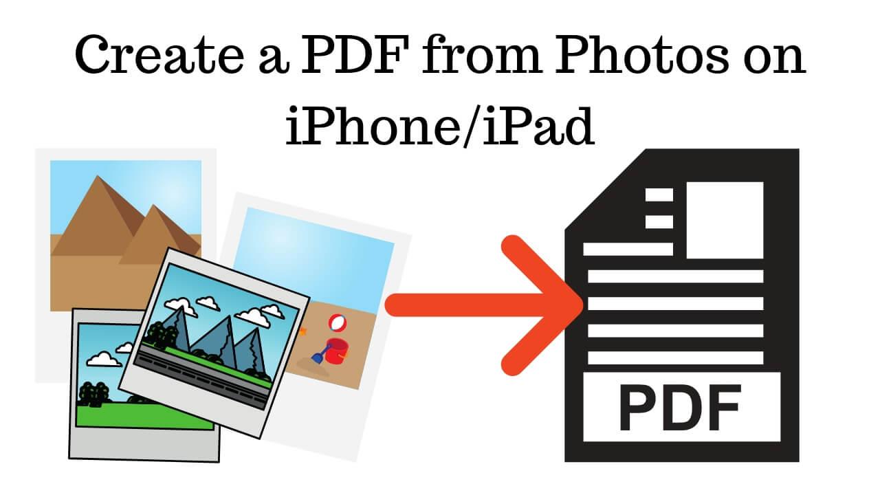 Create a PDF from Photos on iPhone_iPad