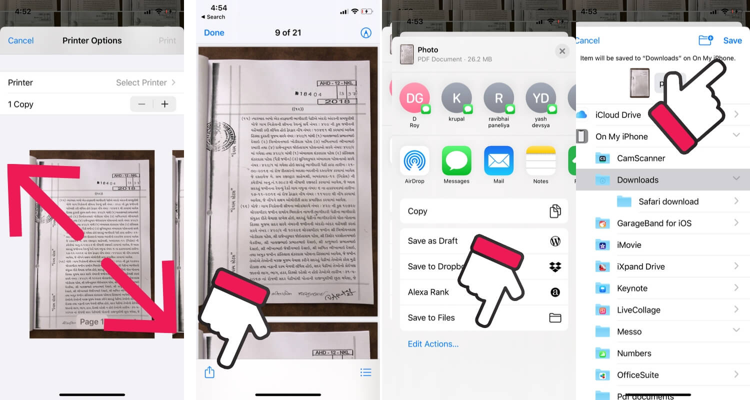 Export file to PDF on iPhone in Files app