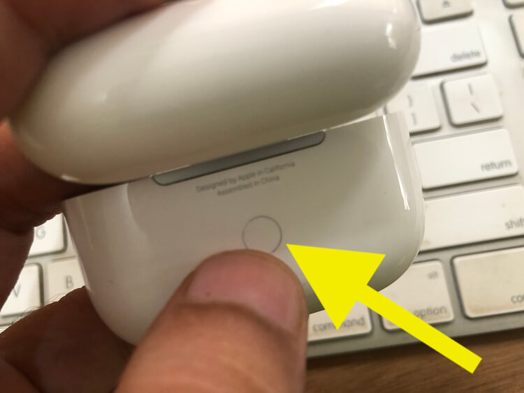 Reset your Airpods Pro Using Back Button