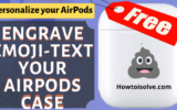 Cool idea to engrave emoji-Text Your Airpods Case